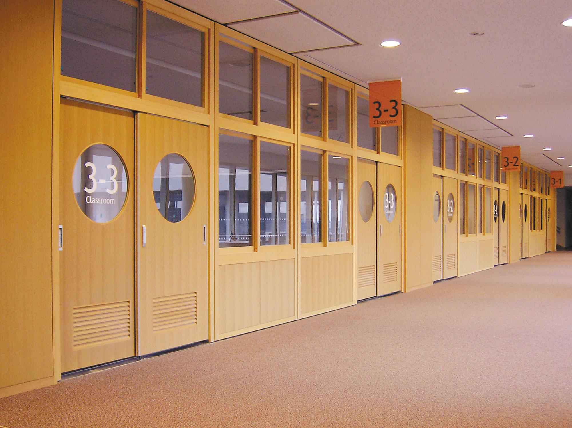 学校間仕切木製サンスクール SPW