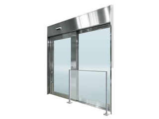 耐熱合わせガラス入りステンレス製自動ドア【ファイヤードS オートドア 避難用開口付き】
