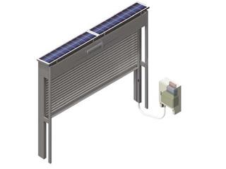 太陽電池式シャッターゲート【サンゲート ソーラー】