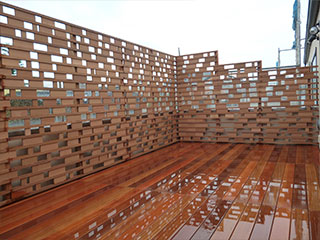 天然木フェンス材(セランガン・バツ) 薄板