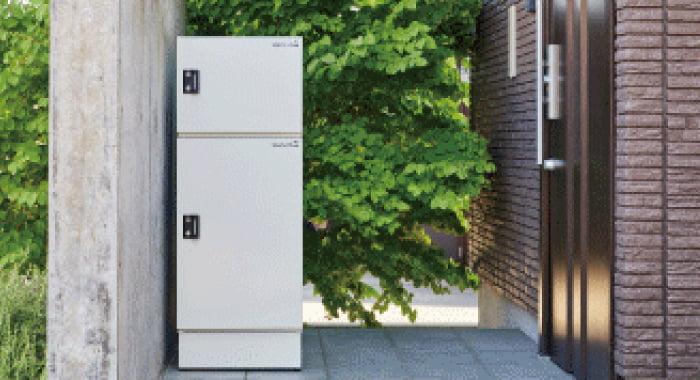 戸建て住宅用宅配ボックス 2個受取りタイプ 宅配KEEPER tumiki(キーパーつみき)