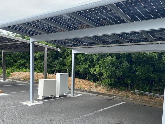 駐車場で発電と蓄電【ソーラーカーポート】