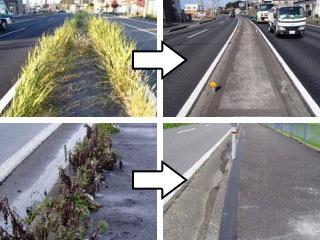 目地雑草を防除する改質アスファルト系防草シート 目地バリシート