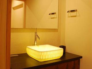 透ける陶器信楽透器の光る洗面器<br> 【 RENCA 蓮花】