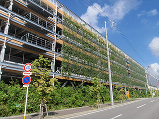 SR-F ネット式 壁面緑化