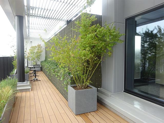SR-F マット式壁面緑化