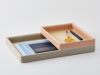 Paper-Wood document tray【villa】