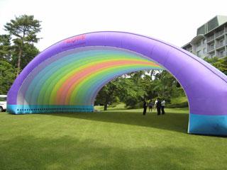 超軽量大型仮設テント【エアロシェルターⅡ】