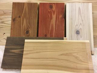 カフェ板塗装品(スギ無垢厚板)
