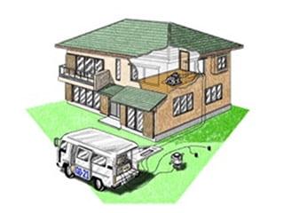 建物をゆすって耐震診断「動的耐震計測」