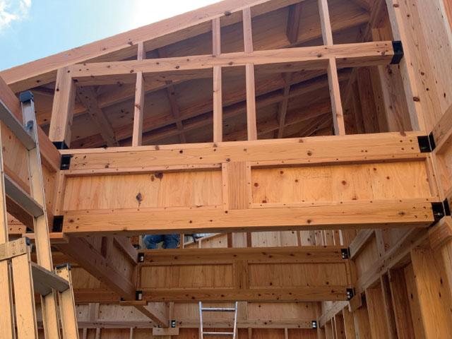 在来軸組小口径材「木質軸枠パネル構法」