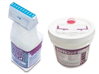 簡易的散布型砂利固定剤【楽砂利ロック】