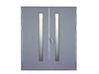 スチール製防音ドア(開き戸/両開き)